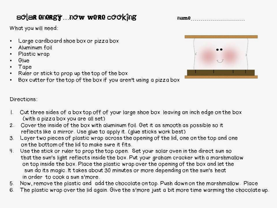 Printables Solar Energy Worksheet the science school yard solar energy activities we are cooking some marshmallows up using suns here sheets i am along with an amazing video lesson and w