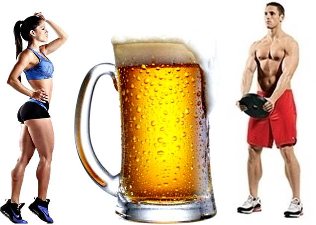 Tomar cerveza después de la rutina de pesas puede ser bueno