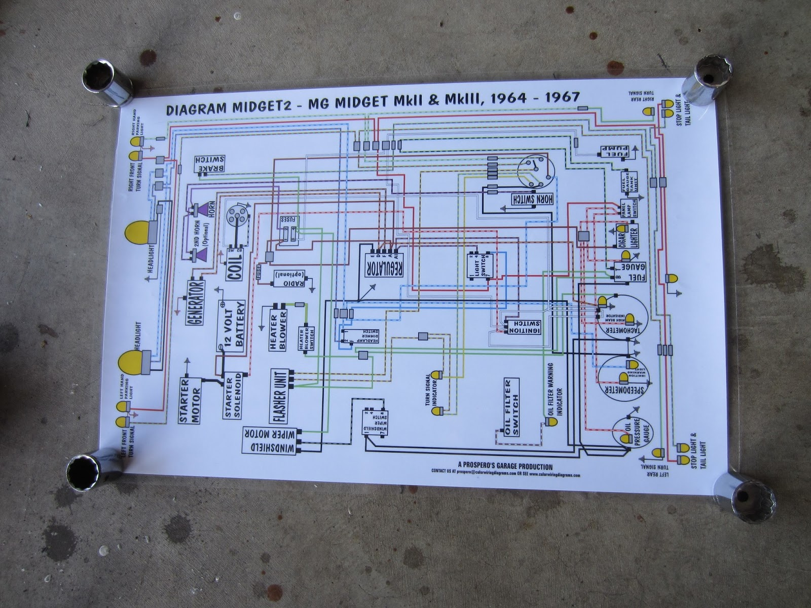 mg midget 1500 wiring diagram high power led driver circuit 1275 29 images