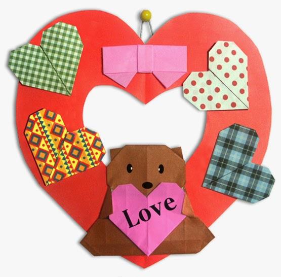 Cách gấp, xếp vòng tròn trái tim bằng giấy origami - Video hướng dẫn xếp hình trái tim quà tặng - How to fold a Heart Circle
