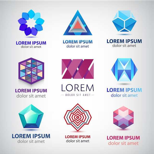 Vector Set - Set of Abstract Colorful 3d Logos 2