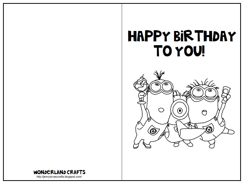 Free Online Printable Birthday Card Templates