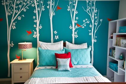 Dormitorios juvenil color turquesa y blanco decoraci n for Dormitorio turquesa