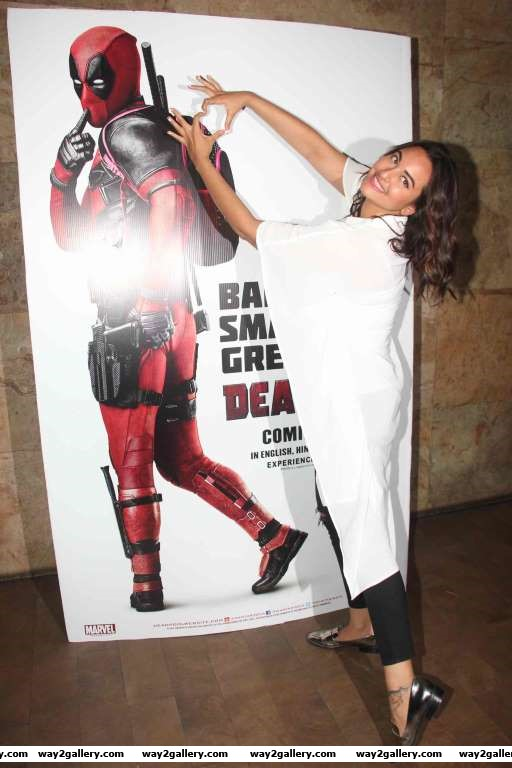 Sonakshi Sinha attended the special screening of Deadpool