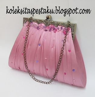 Tas Pesta Cantik Murah Warna Dusty Pink Elegant