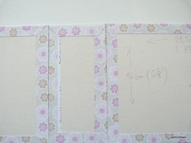 okładka albumu po oklejeniu papierem scrapbookingowym