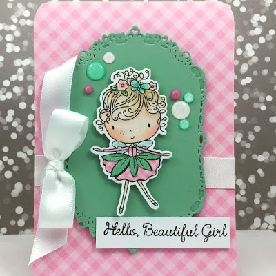 Beautiful Girl stamps and dies by MFT