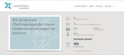Übertragung der Grazer Gemeinderatssitzungen ins Internet