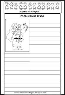 Produção de texto sobre o natal