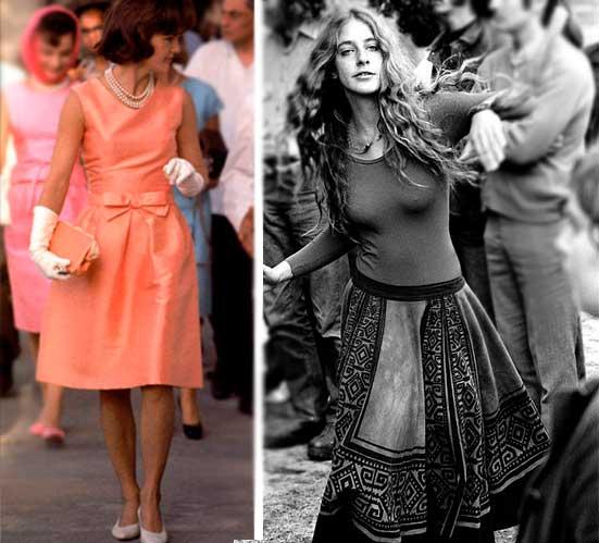 Moda conservadora e Hippies