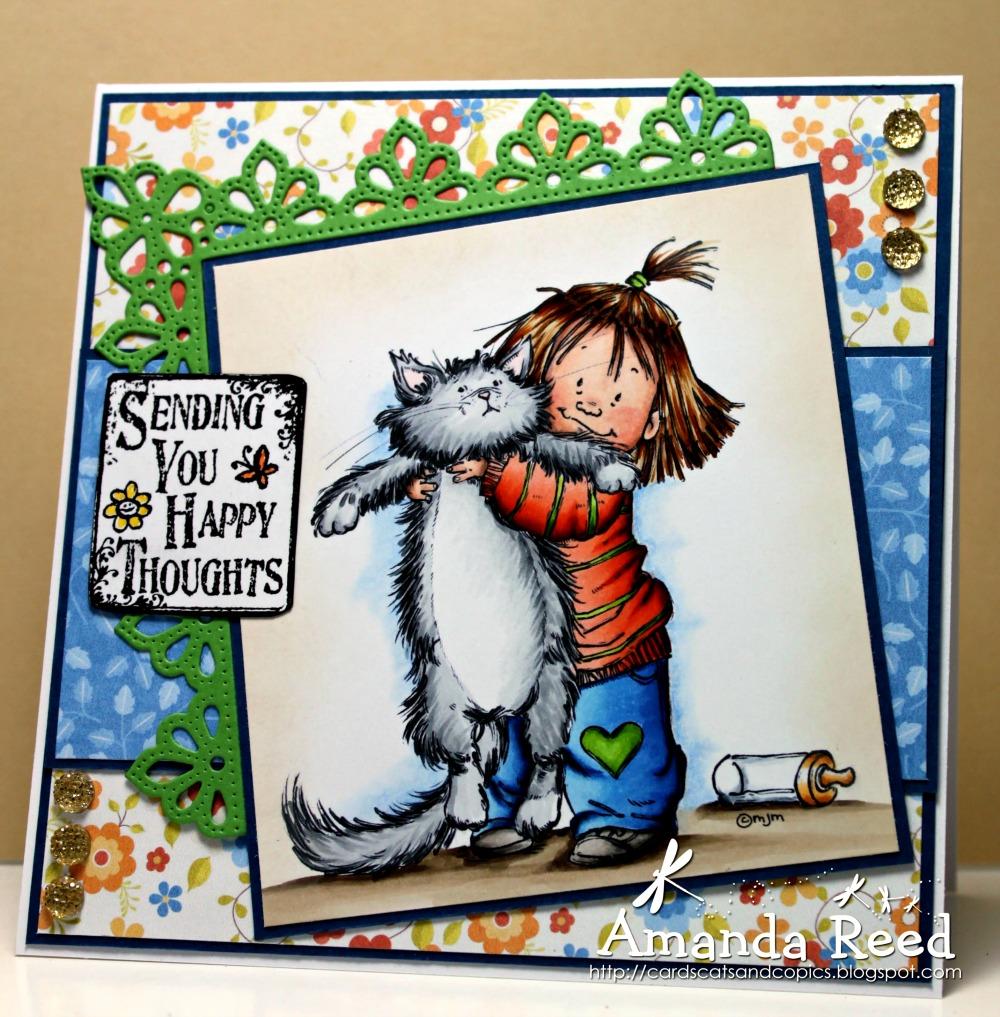 Cards, Cats And Copics: Happy Birthday Debbie