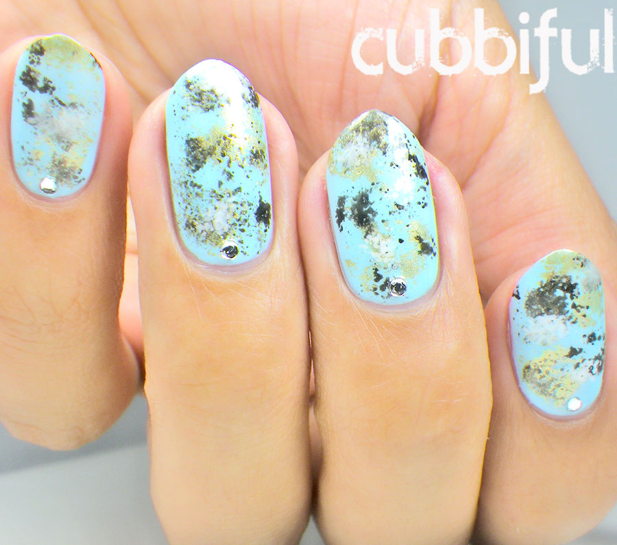 cubbiful: 10 Minute Stone Marble Nails