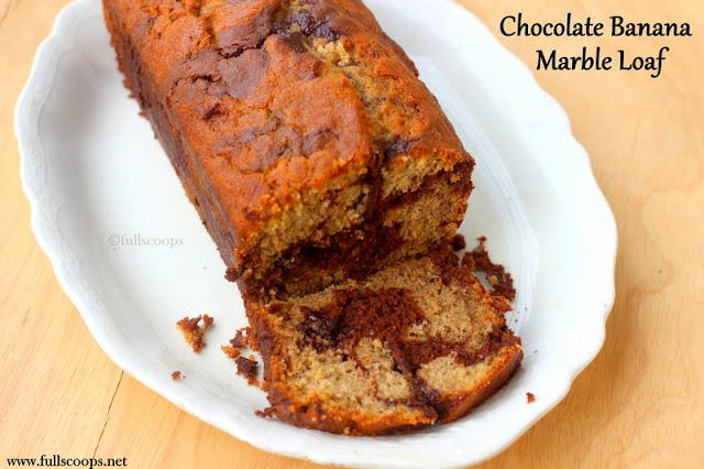 Chocolate Banana Marble Loaf