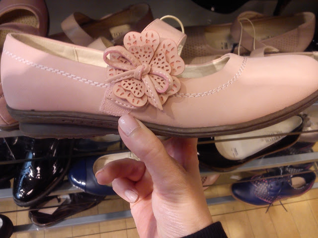 pink flower motif mary janes