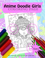 anime doodle girl cyclops girl
