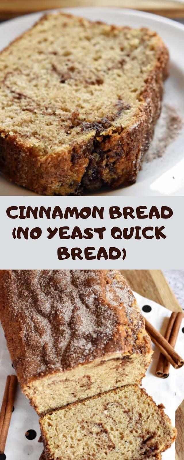 CINNAMON BREAD (NO YEAST QUICK BREAD)