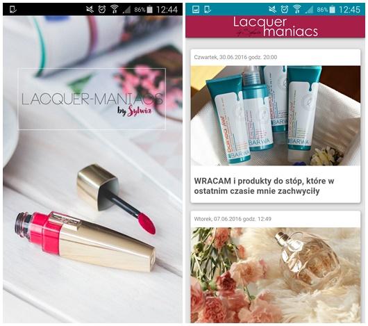 Blog lacquer-maniacs w formie... Aplikacji mobilnej!