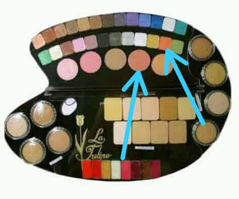 eyeshadow dan blush on La Tulipe oleh khadijah azzahra