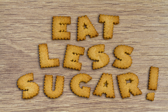 eat less sugar to reduce face fat
