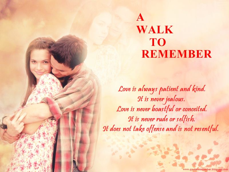 a walk to remember quotes our love is like the wind - photo #33