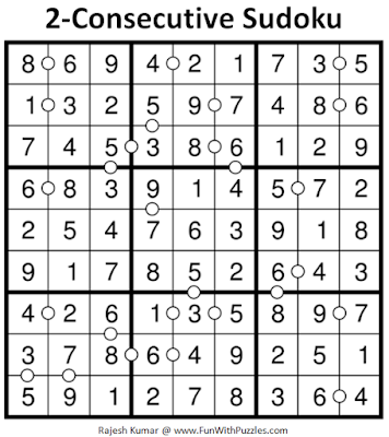 2-Consecutive Sudoku (Daily Sudoku League #193) Puzzle Answer