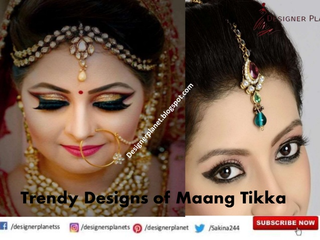Trendy Designs of Maang Tikka |Maang Tika Design - Kundan Maang Tika for Bridal | Designerplanet