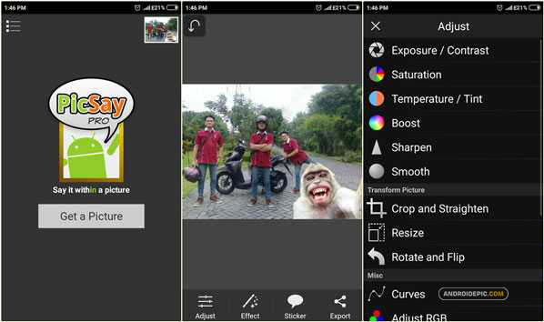 Fitur PicSay Photo Editor Pro