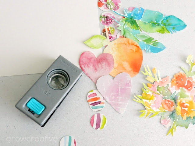 Watercolor Painting Cut-Outs: growcreativeblog