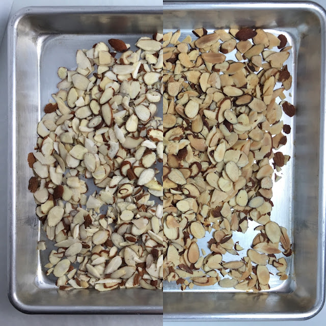 Raw and Toasted Almonds