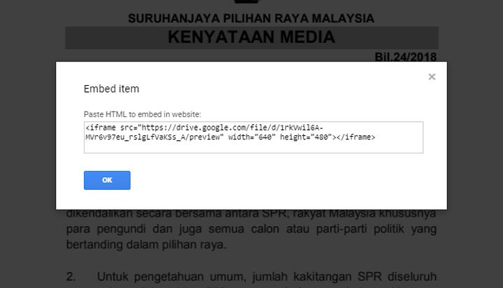 Cara Letak Fail PDF Dalam Blog Post