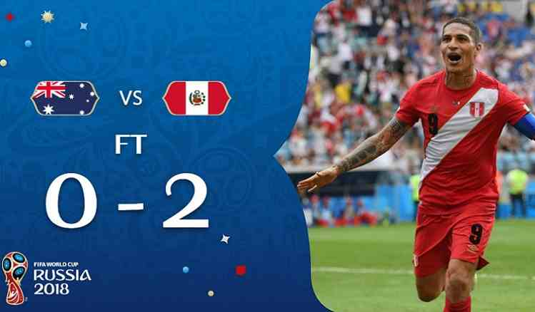 Hasil Australia vs Peru Skor Akhir 0-2   Fase Group C World Cup 2018