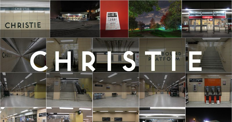 Photo gallery of Christie subway station in Toronto