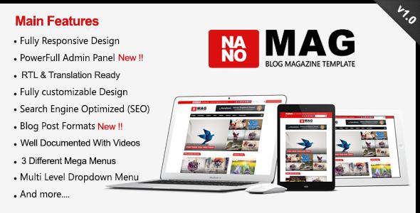 NanoMag - Responsive Blog & Magazine Blogger Template