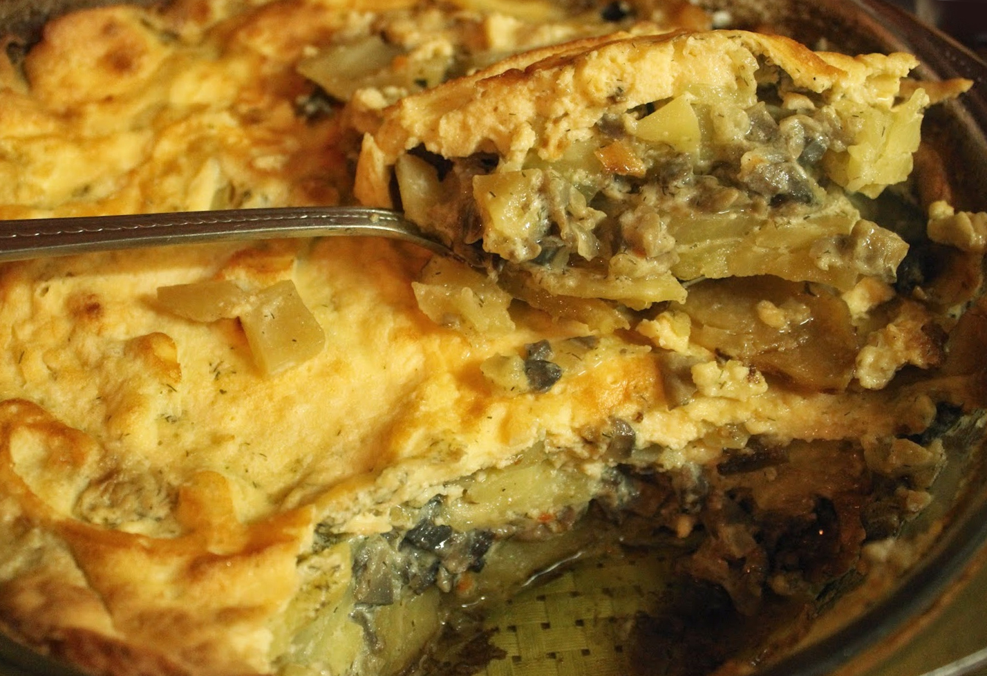 Moussaka With Potatoes And Mushrooms No Meat Macedonian Cuisine