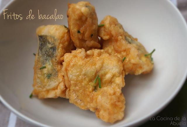 Fritos de Bacalao. Receta sencilla.