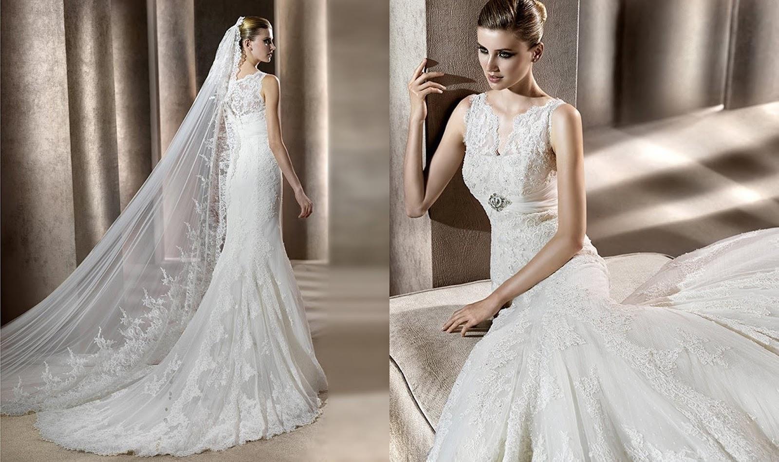 landybridal vintage lace wedding tank top wedding dresses Luxurious Trumpet Mermaid Tank Top Brush Train Ivory Wedding Dress