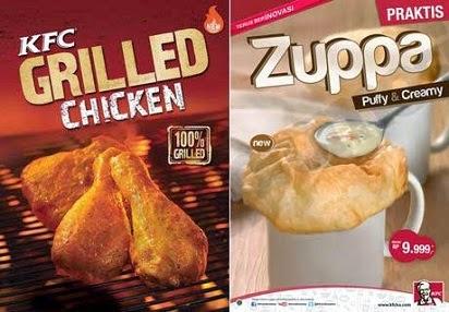 2015, Daftar Harga, Harga Menu, KFC Grilled Chicken dan Zuppa Soup, Zuppa Soup, Grilled Chicken, Paket Murah, Harga Paket, Paket Hemat, Menu Delivery,