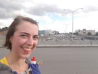 Coureuse souriante, autoroute 40, Métropolitaine, trafic, Montréal
