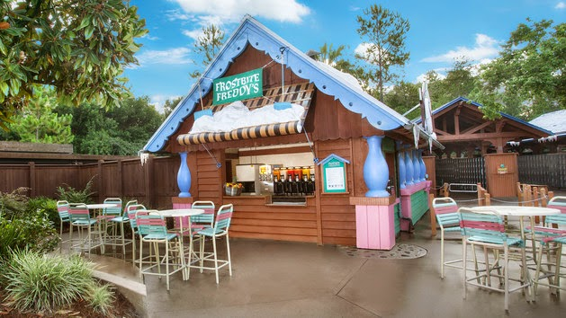 Sorveteria Frostbite Freddy's Frozen no Disney blizzard Beach em Orlando