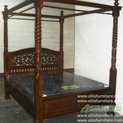 tempat tidur ukiran kanopi rahwana blok