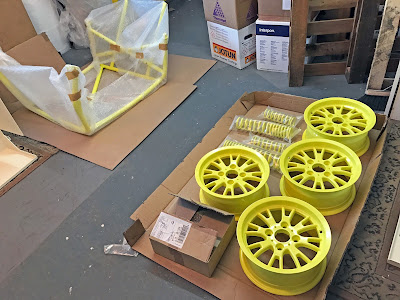 RAL 1016 Sulfur Yellow Powder Coated Caterham Parts