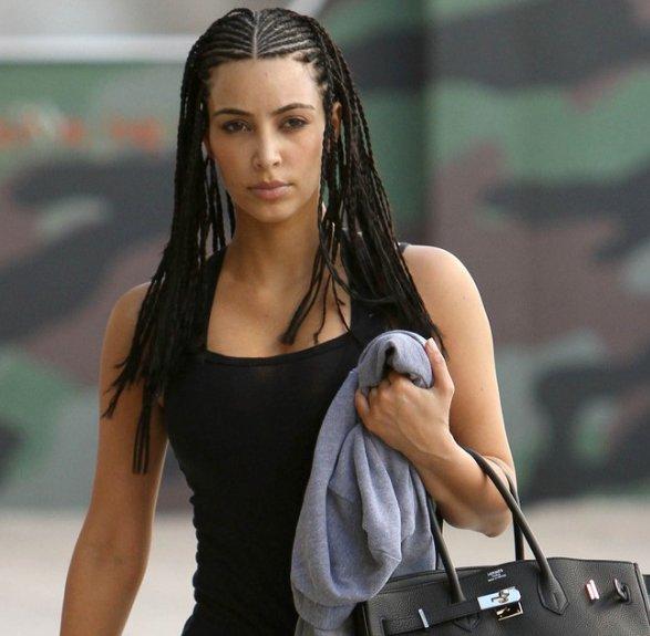 "Kim Hairstyles: Hairstyle & Haircut: Kim Kardashian ""Cornrows"" Hairstyles"