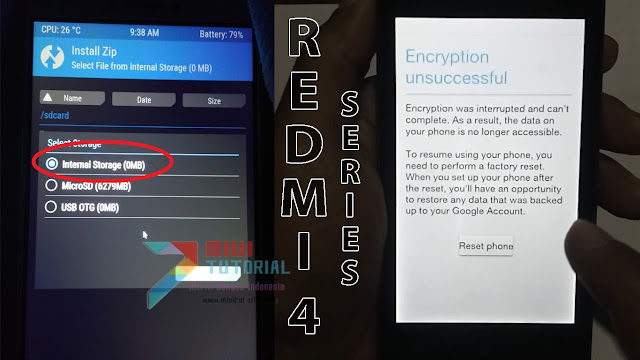Internal Memory 0 MB? Muncul Error Encryption Unsuccessful di Xiaomi Redmi 4/A/Prime Kamu? Ini Tutorial Cara Memperbaikinya