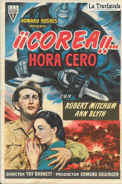 Corea...Hora Cero - Programa de Cine - Robert Mitchum - Ann Blyth