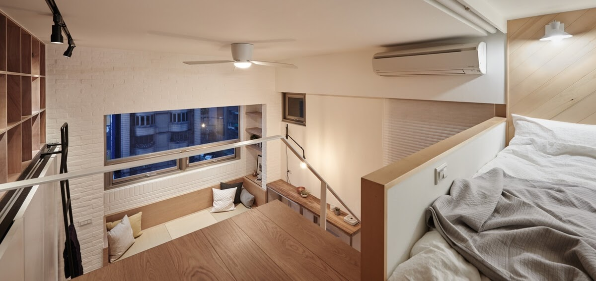 06-Raised-Sleeping-Area-A-Little-Design-Tiny-Apartment-Smart-Design-Renovation-www-designstack-co