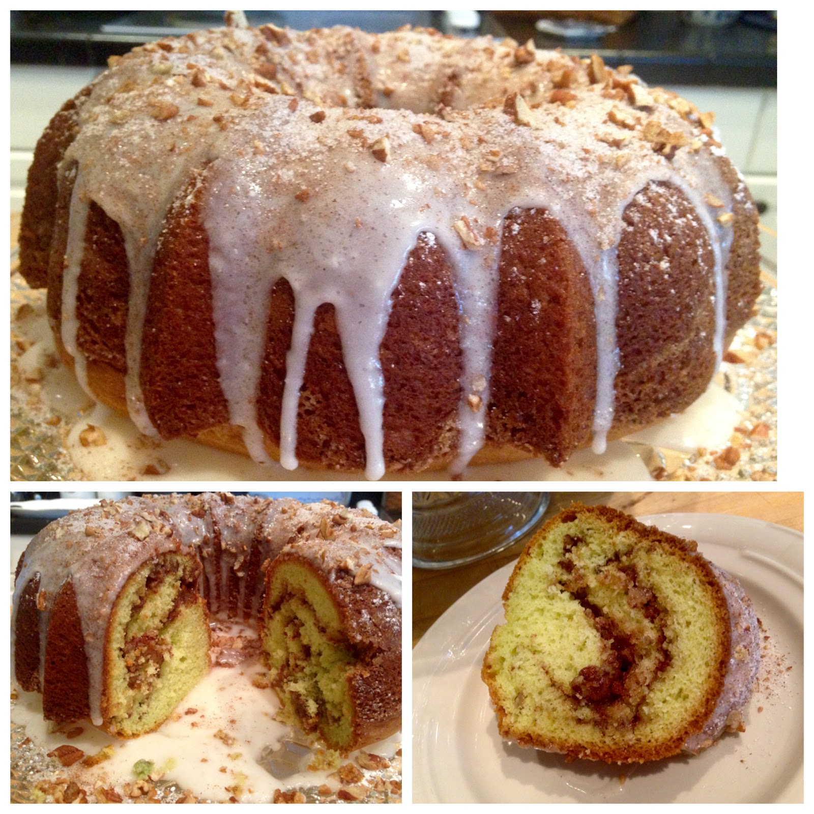 Rita's Recipes: Pistachio Cinnamon Swirl Bundt Cake