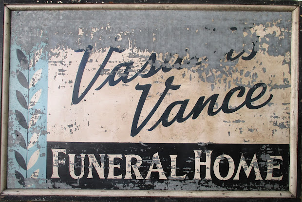Dull Tool Dim Bulb Painted Hand Funeral Home Sign