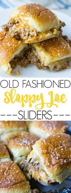 Old Fashioned Sloppy Joe Sliders