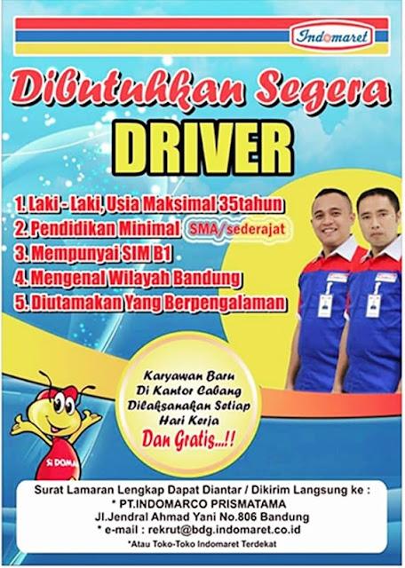 Lowongan Kerja Supir / Driver Indomaret