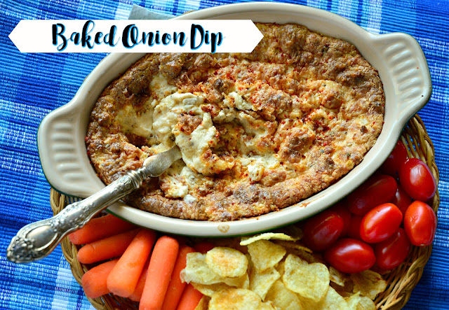 Everyone loves a cheesy, peppery dip. Hot from the oven, this sweet onion dip can be served with chips, bread or crackers. Then again it is also great with cut up veggies or even just a spoon! #appetizer #dip www.thisishowicook.com